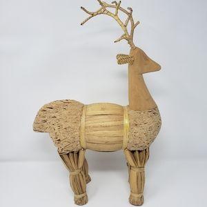 Winter Reindeer Straw Holiday Decoration